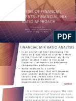 Analysis of Financial Statements Mix Ratio