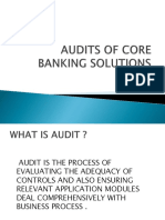 Audits of Core Banking Solutions
