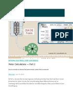 Motor Calculation Part 2