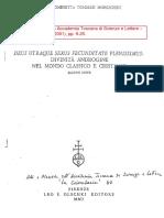 Tommasi Moreschini, Chiara Ombretta - Deus Utraque Sexus Fecunditate Plenissimus Divinità Androgine Nel Mondo Classico e Cristiano. Alcune Note