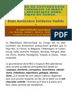 Le Système de Gouvernance qui convient le mieux pour la République Démocratique du Congo