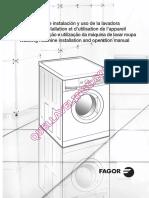 FAGOR FF6012 Lave Linge Notice