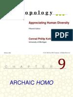 Anthropology- Archaic Homo