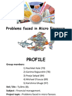 Problems Faced in Micro Finanace