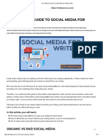 The Ultimate Guide to Social Media for Writers 2019