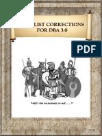 DBA3 Army List Correction