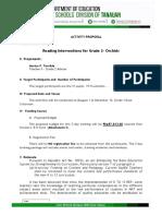 Action Plan for Grade 1 Pagaspas Es