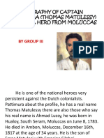 Biography of Captain Pattimura (Thomas Matulessy)