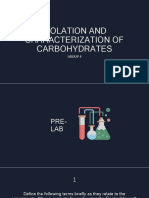 Isolation and Characterization of Carbohydrates