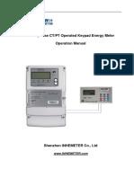 11.3 Three-phase CTPT Operated Keypad Energy Meter