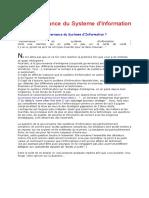 La gouvernance du Systeme d'Information