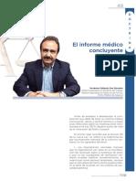 El informe medico concluyente. Norberto Gallardo