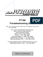 En-Tronic Controls FT-100 Troubleshooting