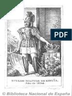 Estado Militar de España (Ed. en 16º). 1834
