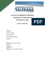 DEFLEXIÓN DE VIGAS