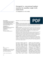 Navigated vs. conventional implant insertion for maxillary single tooth replacement