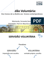 Aula Psicologia Social e Psicanálise - Servidão Voluntária_versão Final.b