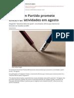Escola Sem Partido Promete Encerrar Atividades Em Agostopdf
