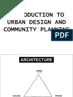 Introduction to Urban Design Community Planning