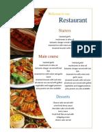 template menu