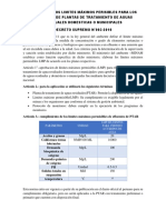 Analisis de Los Limites Máximos Perisibles Para Los Efluentes de Plantas de Tratamiento de Aguas Residuales Domesticas o Municipales