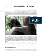 Pet Services and Pet Industry in Canada