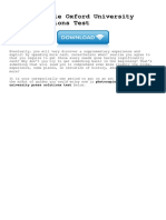 Photocopiable Oxford University Press Solutions Test