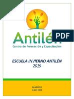 Escuela de Invierno 2019 Centro Antilén