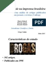Drogas e saúde na imprensa brasileira
