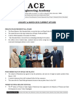 AEE January to March Current Affairs 1