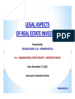 Legal Aspects of Real Estate Investing