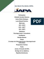Psicologia Social y Comunitaria Tarea 1 y 2
