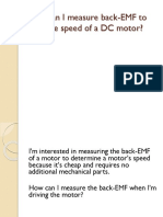 How Can I Measure Back-EMF to Infer the RPM of a Motor