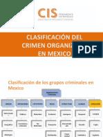 Clasificacion del crimen organizado en México
