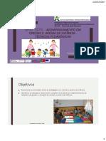 Acompanhamento em creche e jardim de infância - técnicas pedagógicas