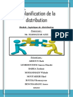 la plannification de distribution
