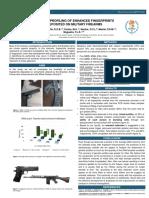 Análise genética de impressões papilares em armamentos de uso militar.