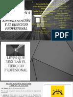 Introducción a La Administración y El Ejercicio Profesional