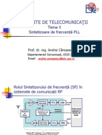 Circuite de Telecomunicatii - Tema X - Sintetizoare de Frecventa PLL