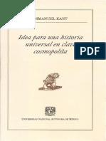 Idea para una historia universal en clave cosmopolita. Immanuel Kant