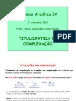 Aula 7 Química Analítica IV Curso Farmácia 2012.2