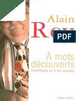 A Mots Decouverts Alain Rey P