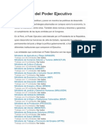 Entidades Del Poder Ejecutivo 2019