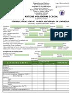 Techvoc Form 137 2015