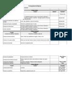 Cronograma de limpeza - 3 Senso