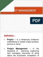 Project Management A