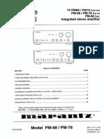 Marantz PM 68 78 Service Manual