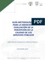 Guía Metodológica Para La Evaluación y Medición de La Percepción de La Calidad de Los Servicios Públicos