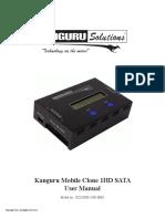 Kanguru Mobile Clone 1HD Duplicator User Manual