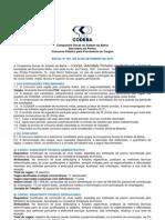 Codeba Edital 1 (vários cargos)
